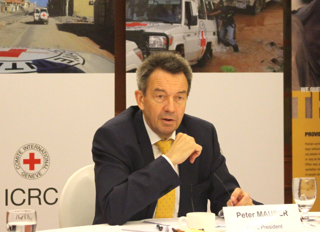 International Committee for the Red Cross President Peter Maurer (ICRC)