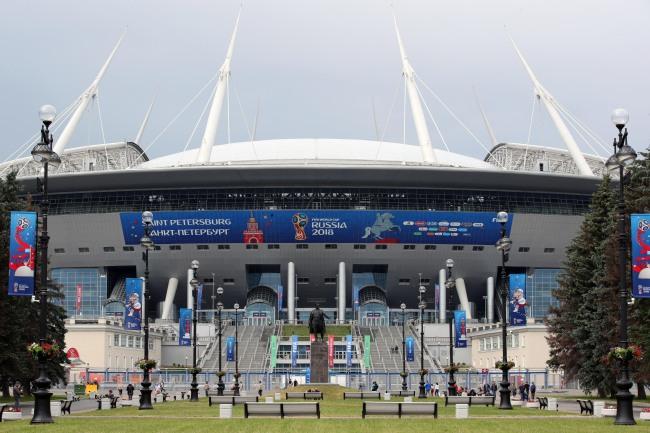 Saint Petersburg Stadium in Saint Petersburg, Russia, on Monday. (Yonhap)