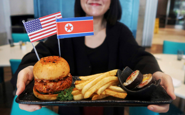 Trump-Kim burger (Royal Plaza on Scott Facebook)