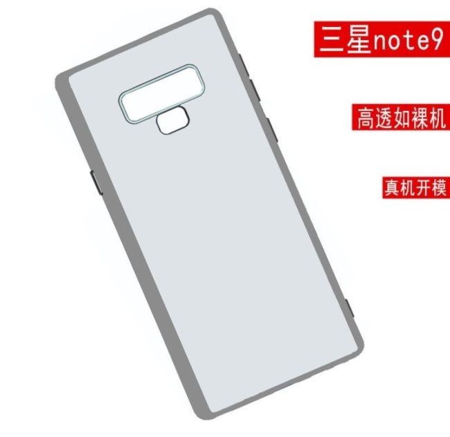 Images of a likely protective case of the Galaxy Note 9 smartphone (Ice universe's Twitter)