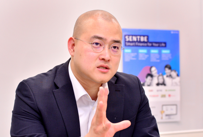 Choi Seong-ouk, co-founder and CEO of Sentbe (Park Hyun-koo/The Korea Herald)