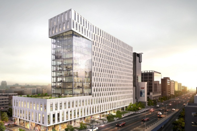 An architectural rendering of Andaz Gangnam (Baum Architects)