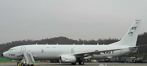 This photo taken Oct. 22, 2017, shows Boeing`s P-8 Poseidon patrol aircraft on display during an exhibition at Seoul Air Base, south of Seoul. (Yonhap)