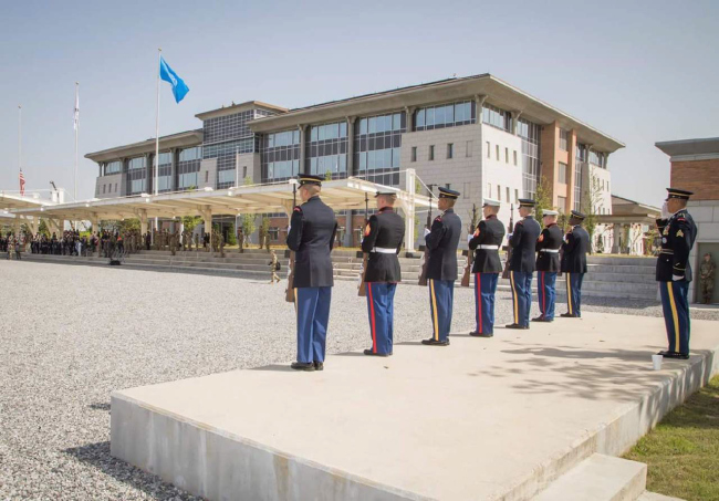 This photo from the US Forces Korea`s Facebook account shows its new headquarters at Camp Humphreys in Pyeongtaek, about 70 kilometers south of Seoul. (Yonhap)