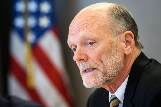 US candidate to the head of International Organization for Migration (IOM) Ken Isaacs (AFP)
