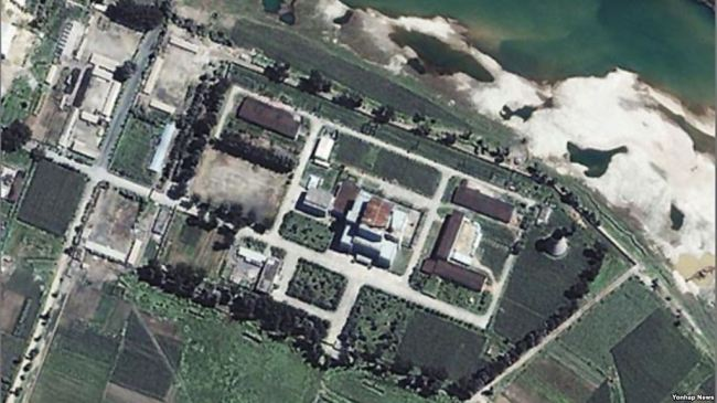 Satellite image of Yongbyon nuclear facility in North Korea. (Yonhap)