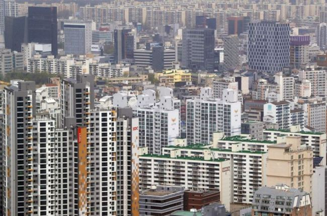 Apartment complexes in Gangnam-gu, Seoul (Yonhap)