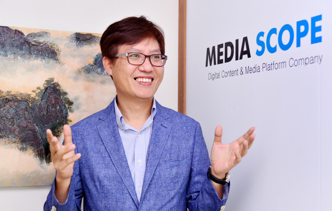 Keum Gi-hoon, CEO of digital contents and media platform startup Mediascope (Park Hyun-koo/The Korea Herald)