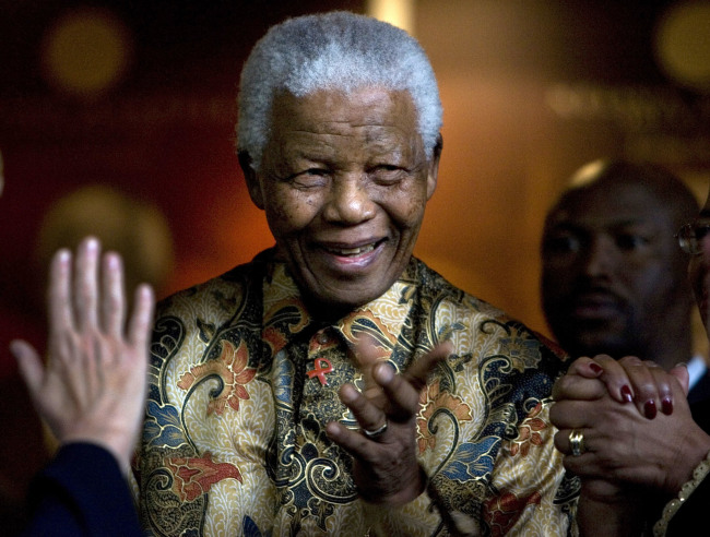 South Africa's first democratically elected president, the late Nelson Mandela (AP/Yonhap)