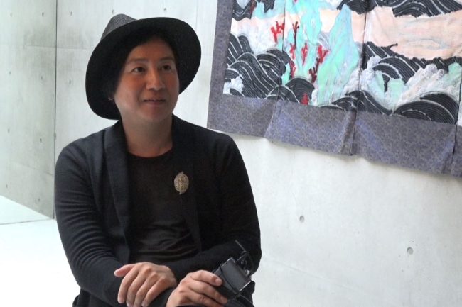 Creative director Kan Ho-sup talks about the exhibition on July 12. (Park Ju-young / The Korea Herald)