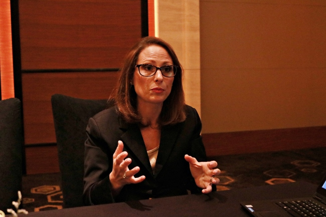 Jodie Gunzberg, managing director and head of US equities at S&P Dow Jones Indices (Aaron Shi/The Korea Herald)