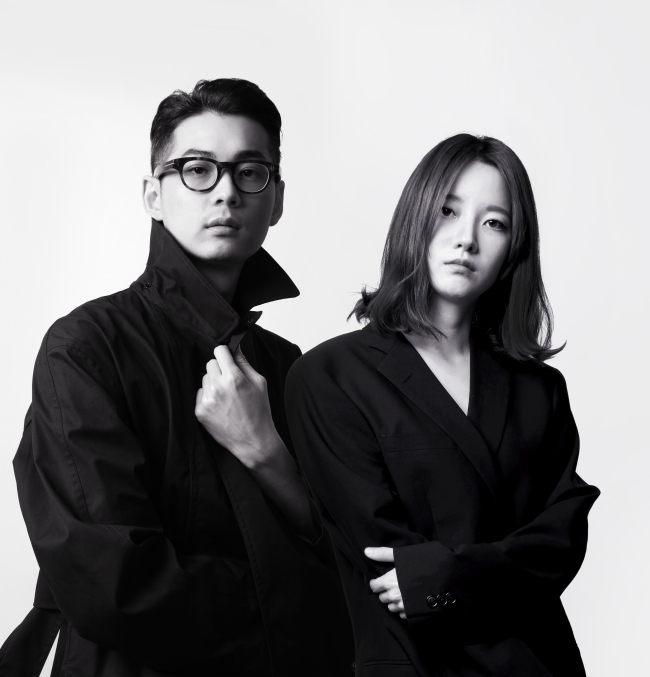 Blindness designers Shin Gyu-yong (left) and Park Ji-sun