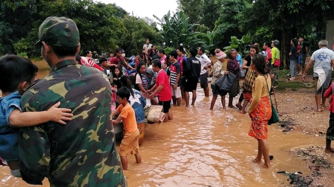 Hundreds missing in Laos after collapse of dam under construction. (Reuters)