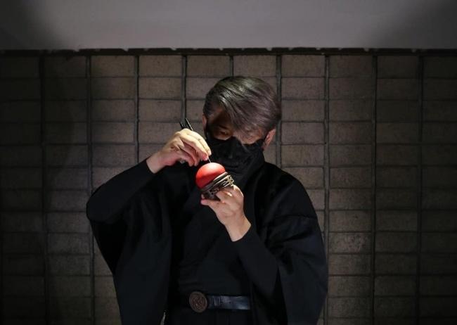 Junichi Mitsubori performs wagashi-making in Seoul (Photo by Jang Yeo-jin)