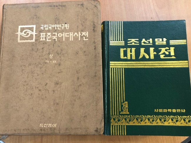 South Korea's Standard Korean Language Dictionary (left) and North Korea's Joseonmal Daesajeon (Jo He-rim/The Korea Herald)