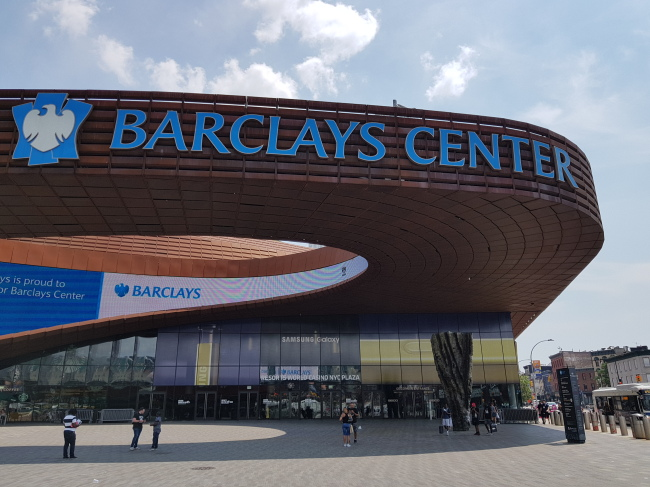 Samsung's Galaxy Note 9 debut is to take place at Barclays Center in New York at midnight on Thursday. (Yonhap)