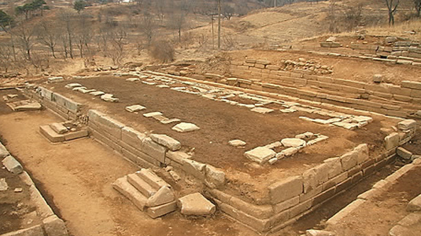The site of Manwoldae in Kaesong in North Hwanghae Province, North Korea, where the royal palace of Goryeo Kingdom stood, is seen in this file photo. (Yonhap)