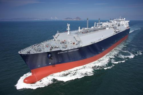 This file photo provided by Samsung Heavy Industries Co. shows its liquefied natural gas carrier. (Yonhap)