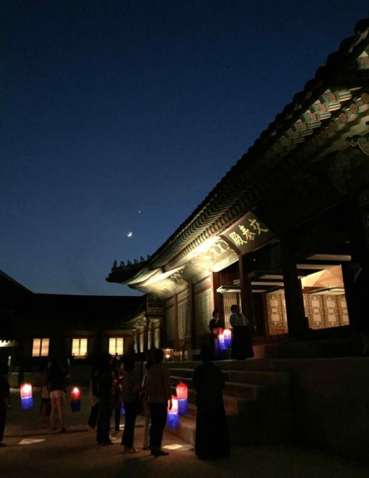 Photos from the Gyeongbokgung Starlight Tour held in the first half of 2018 (Cultural Heritage Administration)