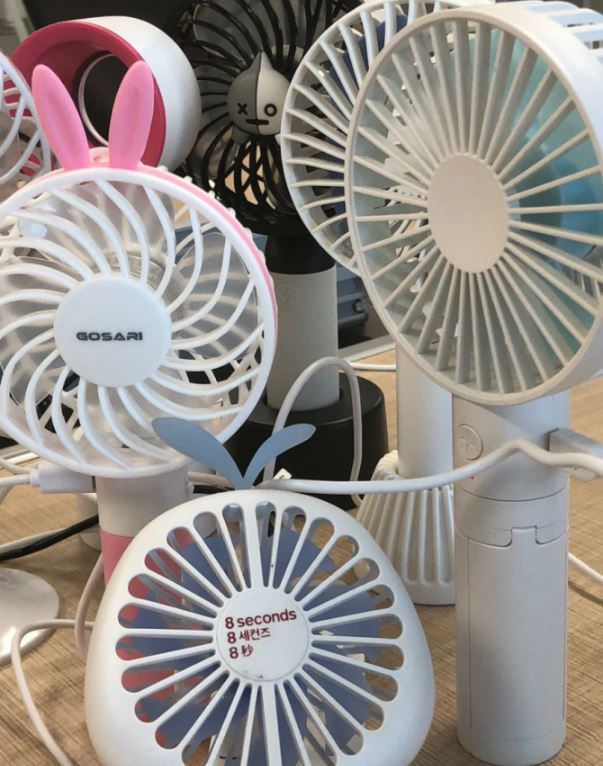 Handheld fans tested by the Asian Citizen's Center for Environment and Health (ACCEH)