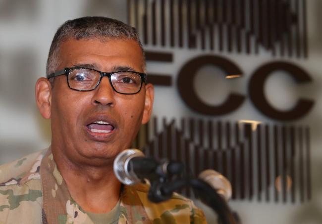US Forces Korea Commander General Vincent K. Brooks speaks during a news conference in Seoul on Aug. 22. (Yonhap)