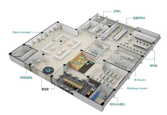 Bird's-eye view of Global Startup Center (KITA)