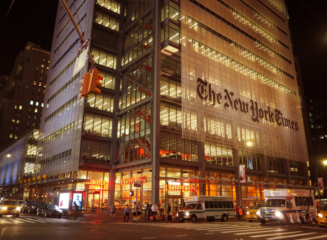 The New York Times building (Joel Lee/The Korea Herald)
