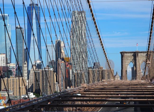 Manhattan from Brooklyn Bridge (Joel Lee/The Korea Herald)