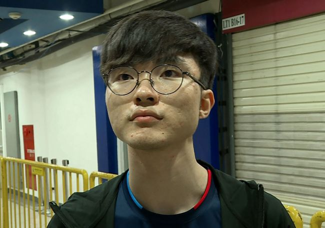 Faker, real-name Lee Sang-hyeok (AFP-Yonhap)