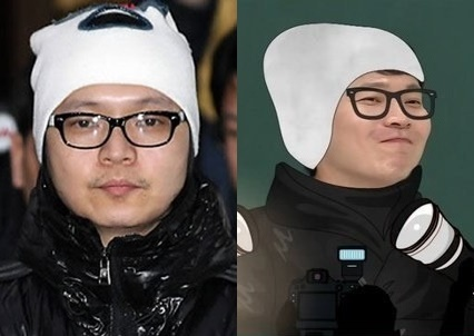 "On the left, Shin Jung-hwan apologizes to the public before being arrested at the Incheon Airport in January, 2011 (Yonhap). A screenshot of Shin Jung-hwan on ""Knowing Bros"" (JTBC)"