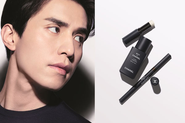 """Actor Lee Dong-wook is a campaign model for Chanel's very first male makeup line """"Boy de Chanel."""" (Chanel)"""