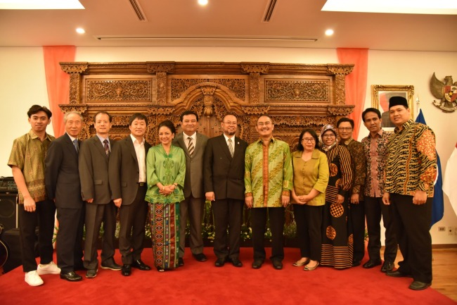 Award recipients and diplomats pose at the embassy on Aug. 26. (Indonesian Embassy)
