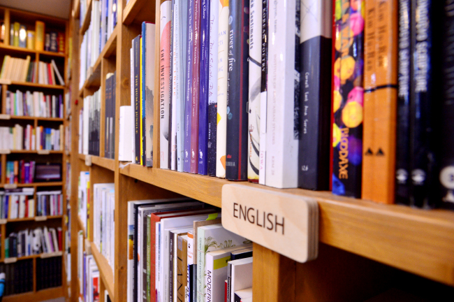 Books at the library of the Literature Translation Institute of Korea (By Park Hyun-koo / The Korea Herald)