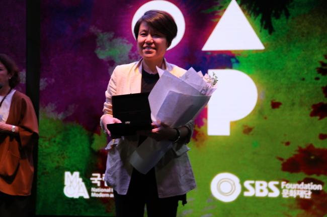 Artist Jung Eun-young, the winner of the Korea Artist Prize 2018 MMCA