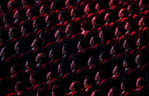 People attend a concert on the eve of 70th anniversary of North Korea`s foundation in Pyongyang, September 8, 2018. (REUTERS)