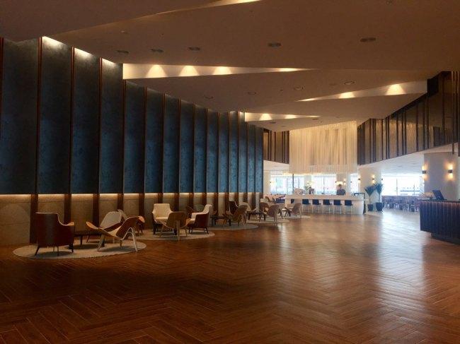 Lobby at Hotel Marinabay Seoul (By Im Eun-byel / The Korea Herald)