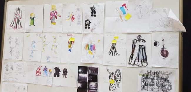 Achim Freyer's concept drawings of the constumes (The Korea Herald/Shim Woo-hyun)