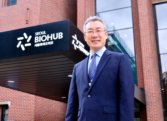 Seoul Bio Hub General Director Woo Jung-hoon (Park Hyun-koo/The Korea Herald)
