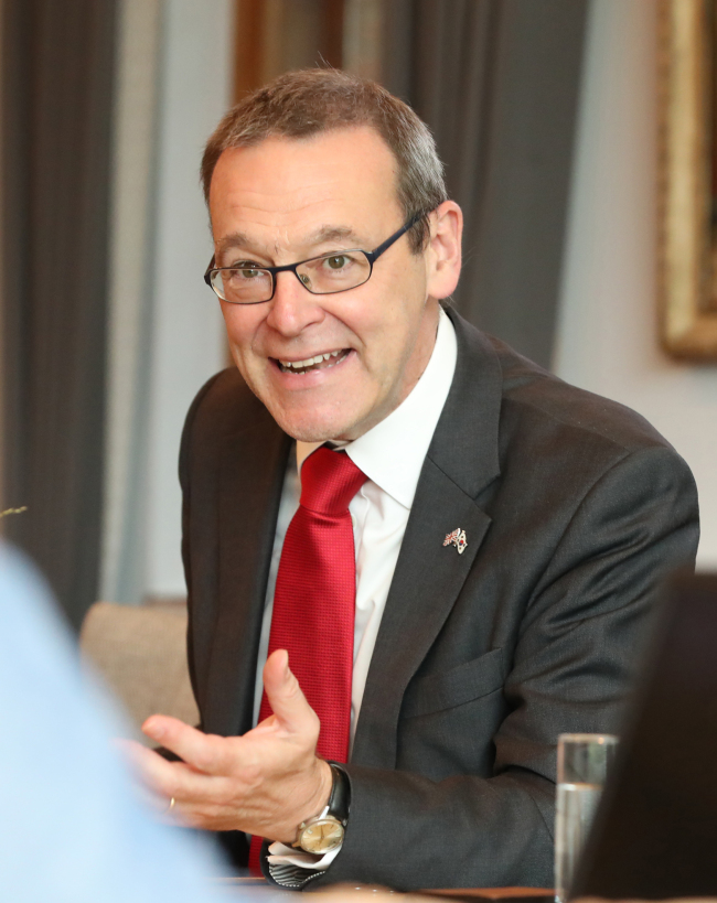 Sir Simon McDonald, the UK permanent undersecretary and head of the diplomatic service (Yonhap)