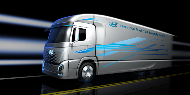 A rendered image of Hyundai Motor's hydrogen truck (Hyundai Motor)