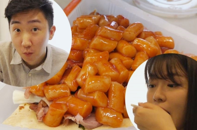 "Reporters from The Korea Herald tried making a ""Banzz Set,"" a combination of pizza, chicken, tteokbokki and cheese"