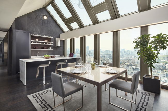 A penthouse room at Four Points by Sheraton Gangnam (Mariott International)