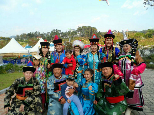 Viktor Kim and Zhaegalma Tsyrenouna on a group trip to Anseong Namsadang Festival in Anseong. (Viktor Kim)