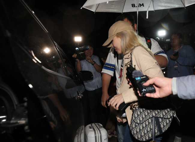 Ali arrives in Seoul after her visit to Pyongyang on Thursday night. (Yonhap)