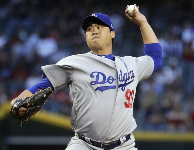 Ryu Hyun-jin of the Los Angeles Dodgers (AP)