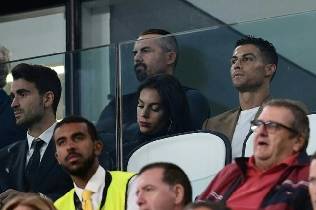 Portuguese forward Cristiano Ronaldo, pictured here with his girlfriend, Spanish model Georgina Rodriguez. (AFP)
