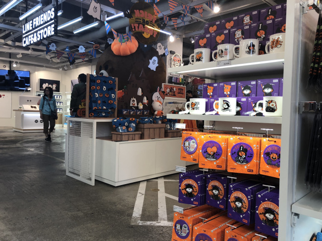 """The """"Spooky Halloween Collection"""" on display at Line Friends Store"""