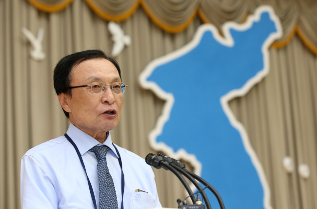 Lee Hae-chan, the chief of the ruling Democratic Party (Yonhap)
