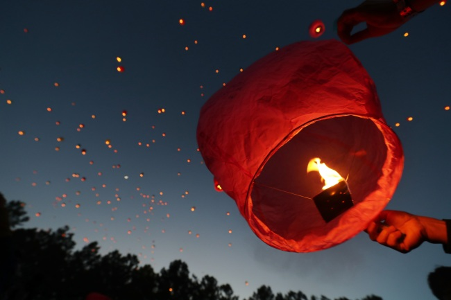 A picture from a lantern festival held in Daegu on May 19. (Yonhap)