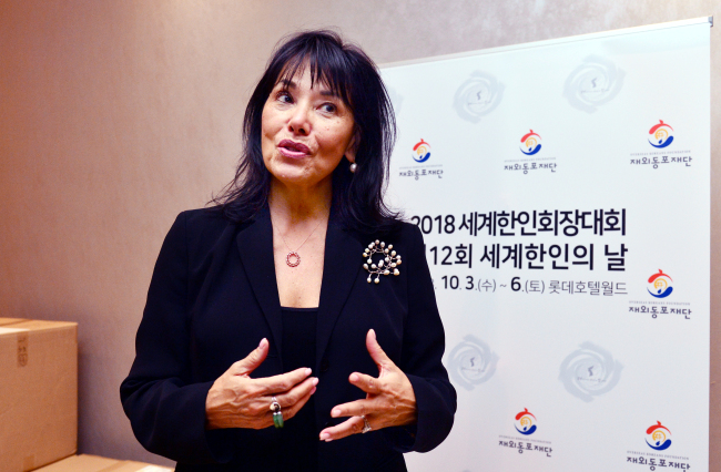 Susan Soonkeum Cox, vice president of policy and external affairs at Holt International Children's Services, speaks during an interview with The Korea Herald. (Park Hyun-koo/The Korea Herald)